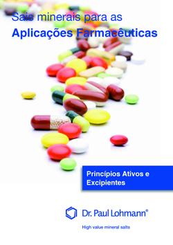 Sais Minerais para as Aplicações Farmacêuticas